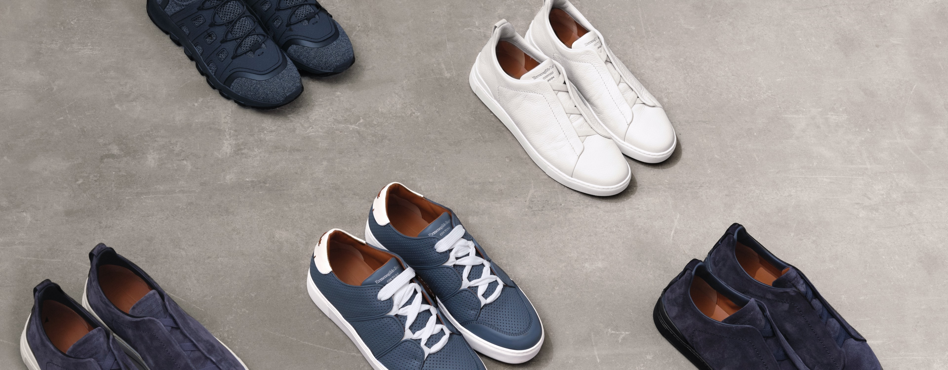 The luxurious comfort of men's sneakers by Zegna